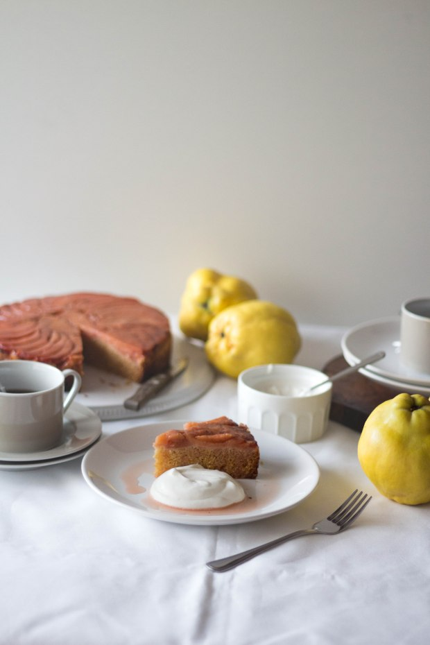 Quince upside down cake6