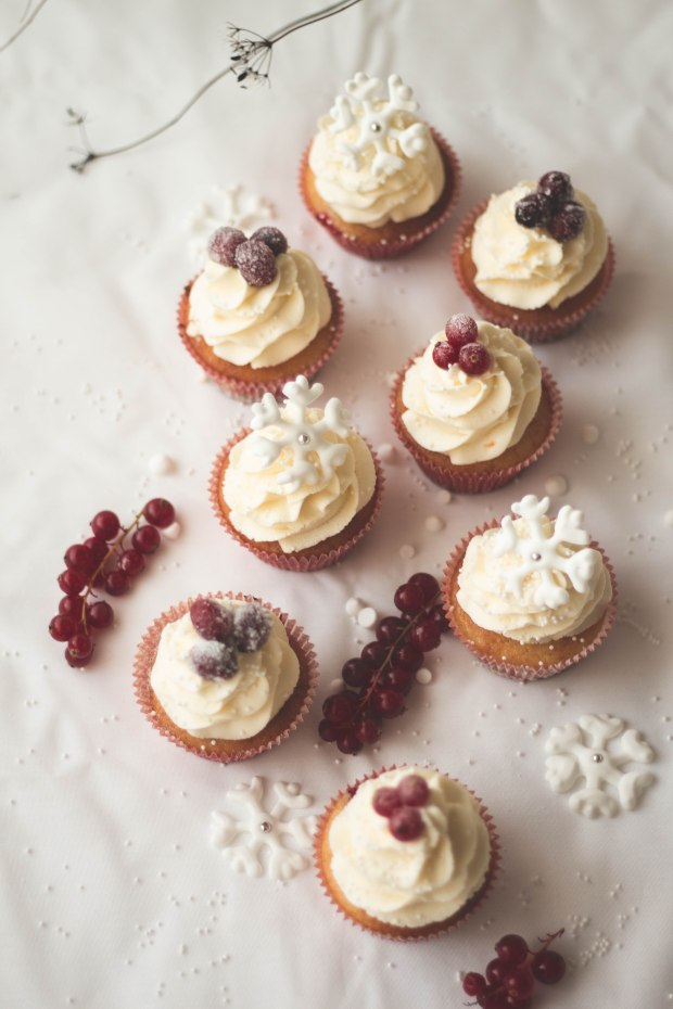 Orange Cranberry Redcurrants Cupcakes7