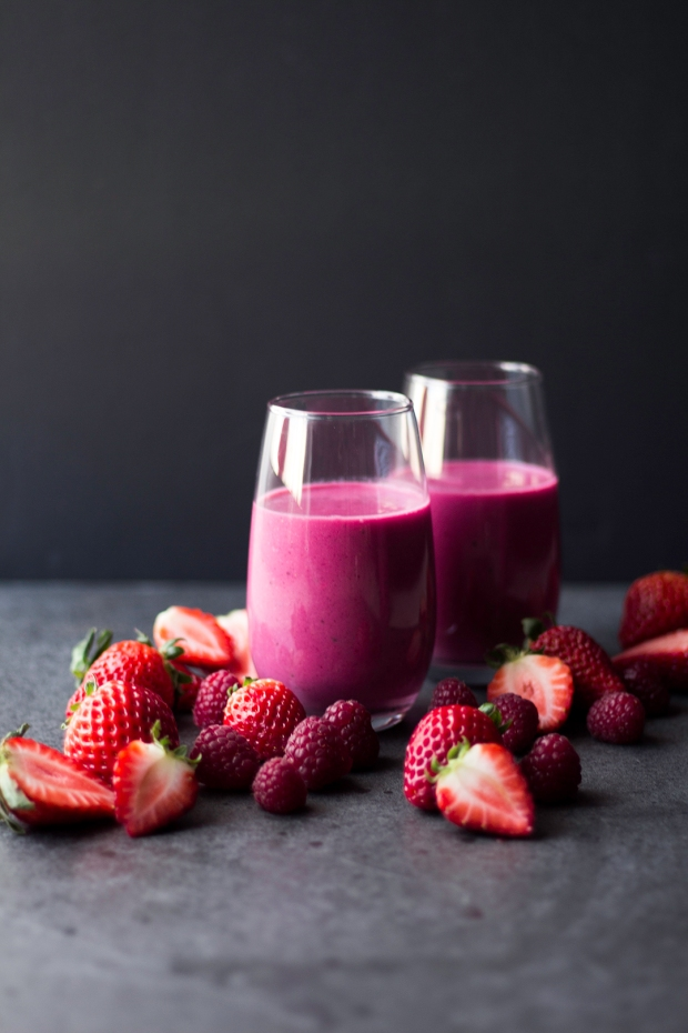 beetroot red fruits smoothie 9