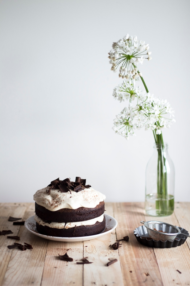 Dark chocolate Cake w Caramel Mascarpone Cream_1
