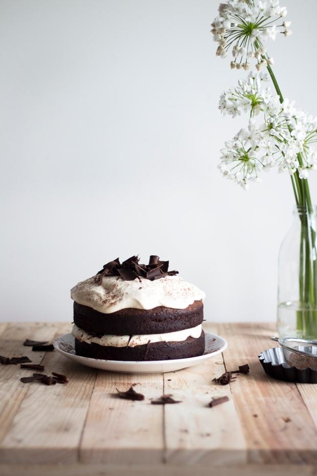 Dark chocolate Cake w Caramel Mascarpone Cream_2