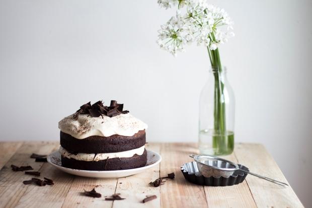 Dark chocolate Cake w Caramel Mascarpone Cream_3