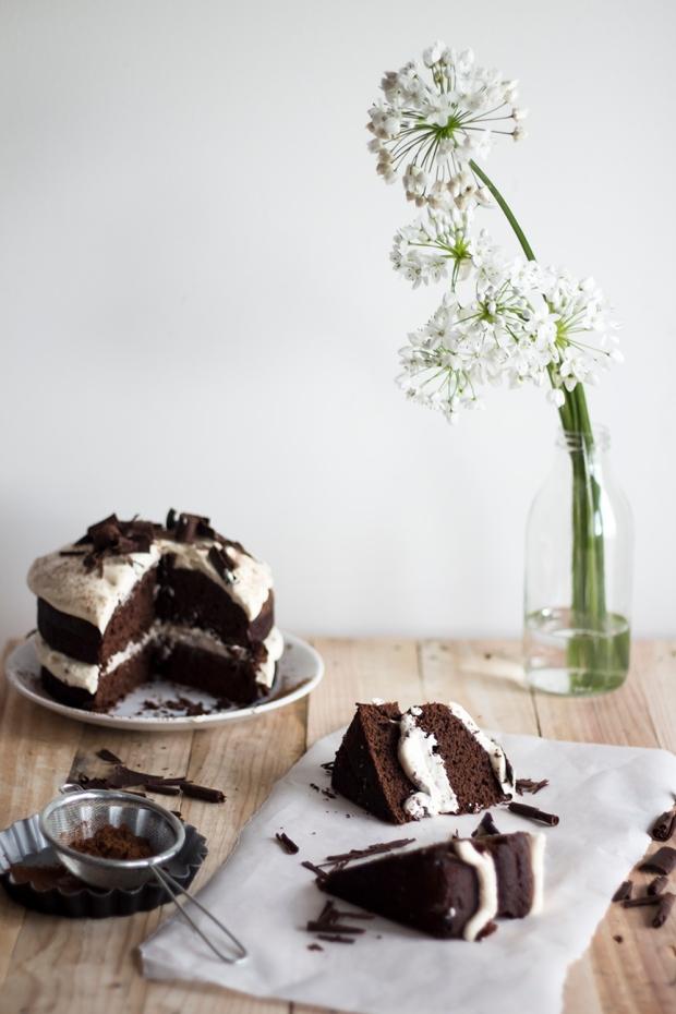 Dark chocolate Cake w Caramel Mascarpone Cream_7