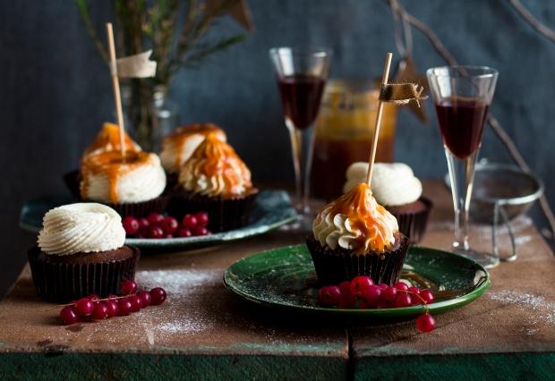 Dark Chocolate & Porto Wine Cupcakes_4