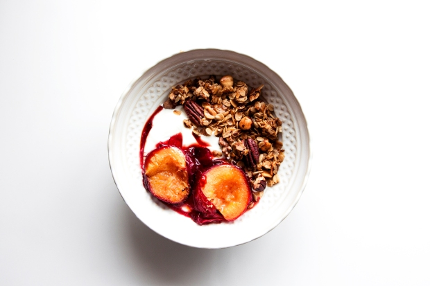 Pecan Granola with Plums 1b