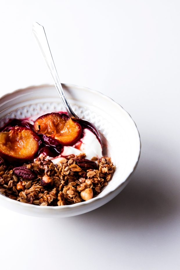 Pecan Granola with Plums 4