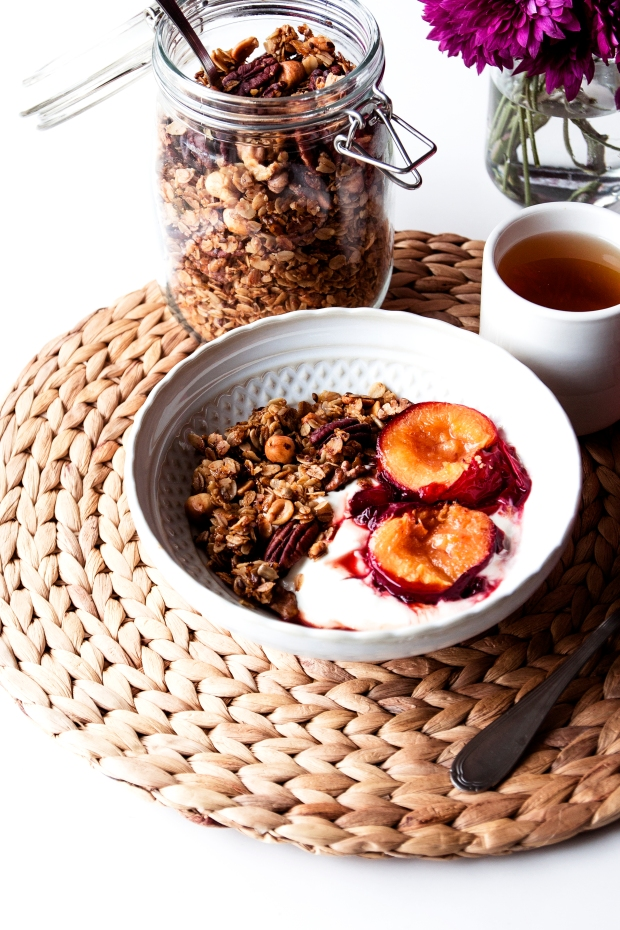 Pecan Granola with Plums 5